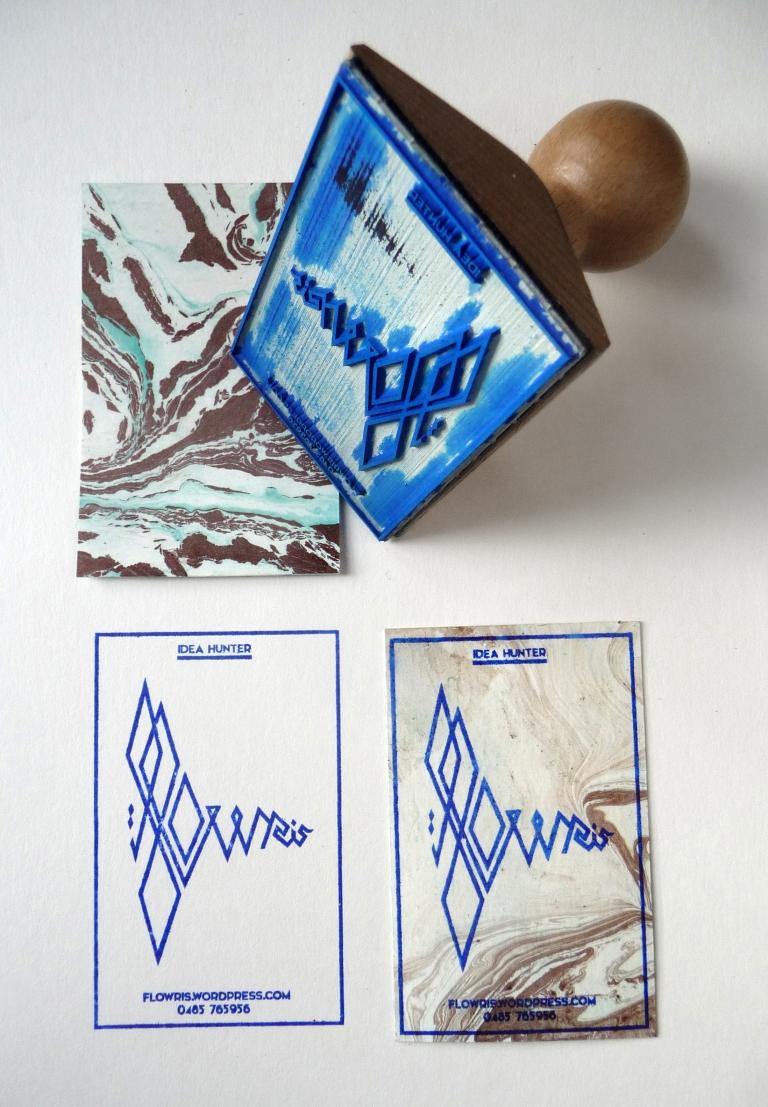 stempel + kaartje