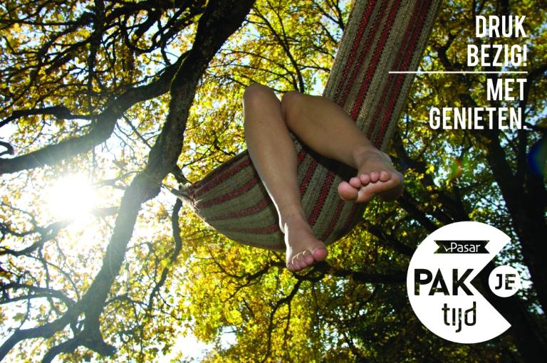 Feet dangling from hammock