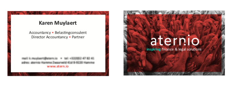 aternio - flowris -businesscards